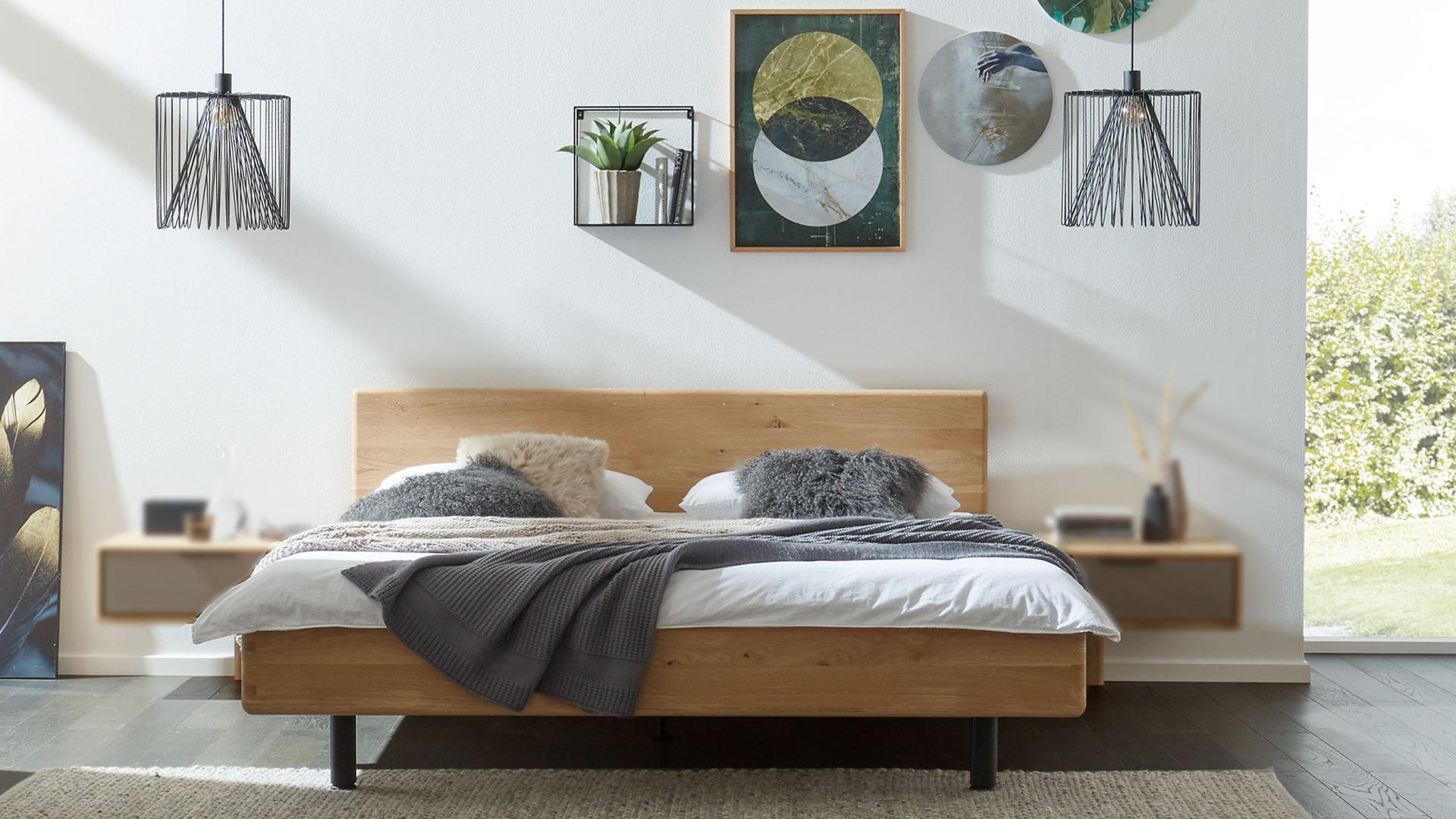 Interliving Schlafzimmer Serie 1015 Bettgestell 1200 Wildeiche Hoxter Paderborn Detmold