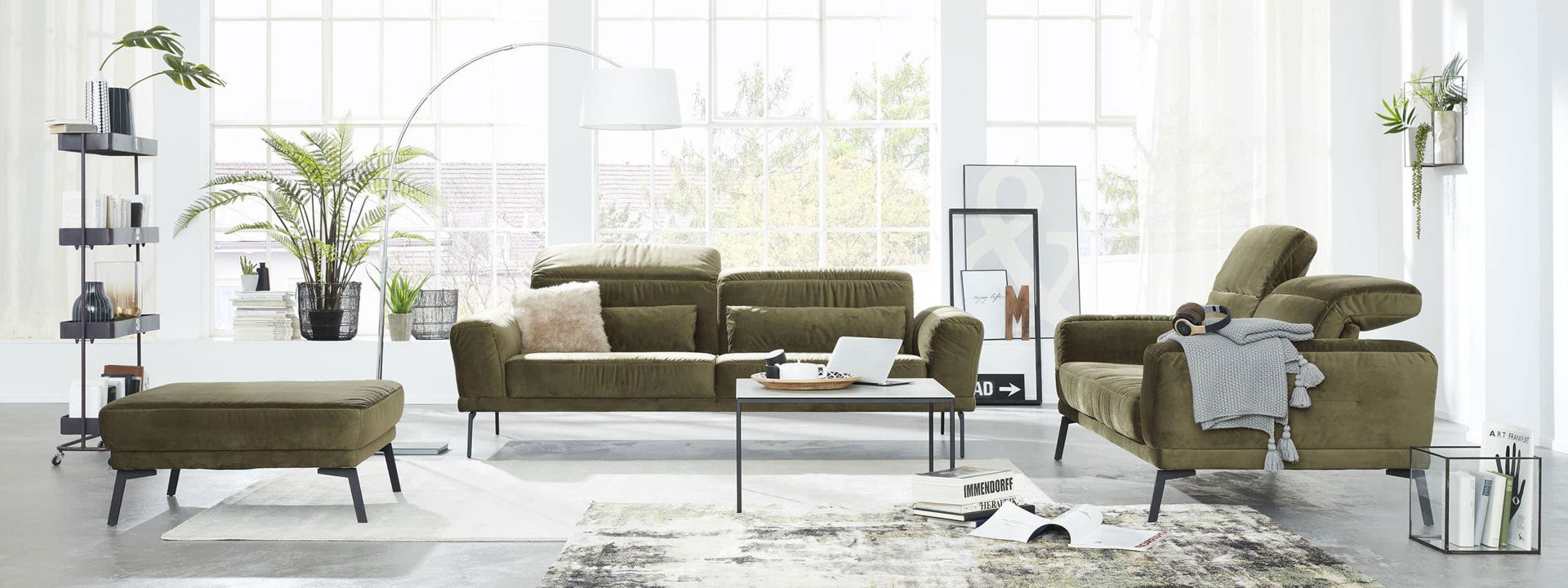 Weser Wohnwelt Interliving Sofa Serie 4103 Paderborn Detmold HF highlight